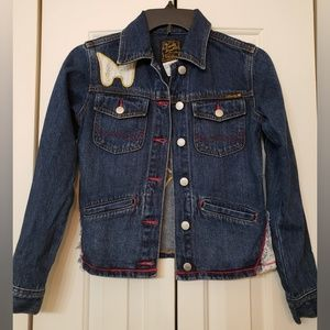 Lucky Brand Girls Patchwork Denim Jacket 12/14